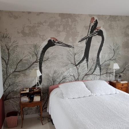 Pose de papier panoramique dans un appartement neuf des Hauts de Seine