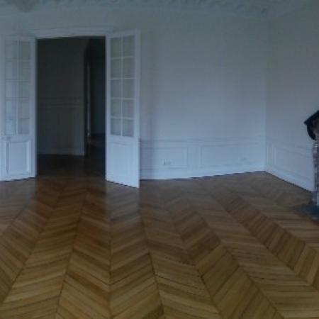 Vitrification Parquet en Pointe de Hongrie d'un appartement parisien