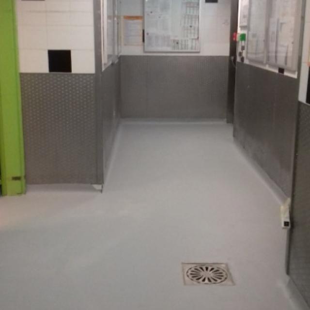Revêtement sol PVC dans une société industrielle parisienne